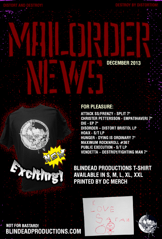 Blindead Productions t-shirts